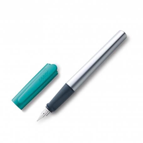 stylo plume nexx smaragd - Pointe de plume LH gaucher - Cartouche grande capacité T10 bleu