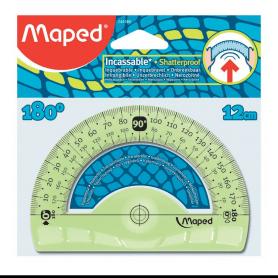 Maped rapporteur demi-circulaire Flex 180 degrés, 120 mm