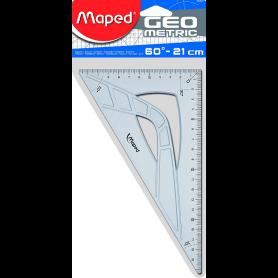 Maped Equerre Geometric 60 degrés, hypothénuse: 210 mm
