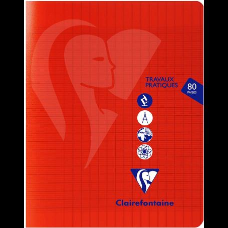 CLAIREFONTAINE Cahier polypro Travaux Pratiques 17 x 22 cm 80 pages Séyès-Uni