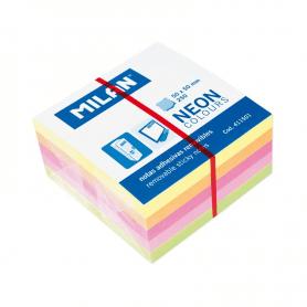 Bloc 250 notes adhésives coloris néon 50 x 50 mm