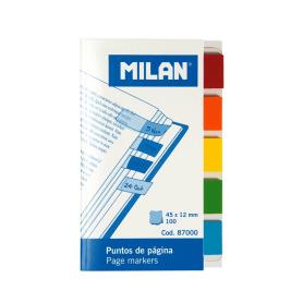Bloc 100 marque-pages en plastique transparent