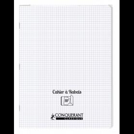 Conquérant Cahier à rabats 24x32 - 96 pages - 5x5 - Polypro incolore