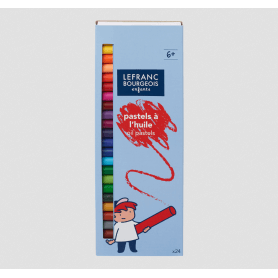 Lefranc bourgeois pastels a l'huile x 24