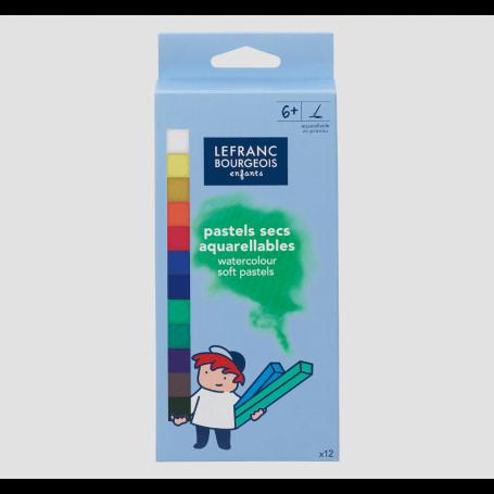 LEFRANC & BOURGEOIS Boîte 12 pastels secs aquarellables