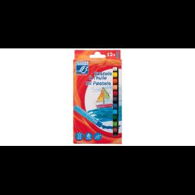 Lefranc Bourgeois - Pastels à l'huile pour enfants - Boîte de 12 x 10mm