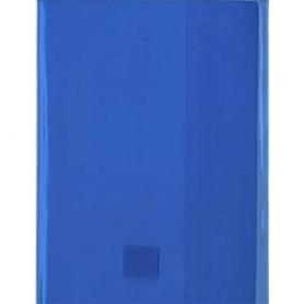 Elba Protege-cahier 24x32 transparent bleu