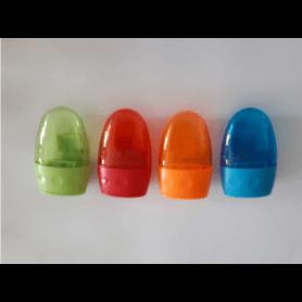 """JPC Taille-crayon """"bobsy"""" 2 Trous interieur plastique avec réserve coloris aléatoire"""