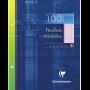 Clairefontaine étui carton 100 pages Feuillets mobiles perforés 17x22 cm 90g grands carreaux, Rose