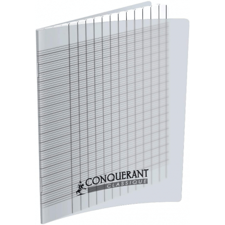 OXFORD CAHIER DEFICIENTS VISUELS AGRAFE 17X22 96P 90G SEYES 2,5mm POLYPRO INCOLORE