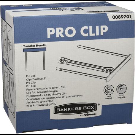 Fellowes Clips pour archives 10cm BankerBox - Blanc (lot de 100)