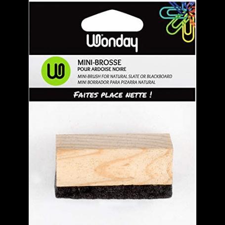 Wonday Mini brosse pour ardoise naturelle, en bois