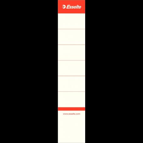 Esselte Sachet 10 étiquettes adhésives pour classeur à levier - 50 mm