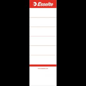 Esselte Etiquette pour dos de classeur, 60 x 190 mm, blanc