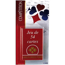 Jeu de 54 cartes traditionnel - Etui en carton