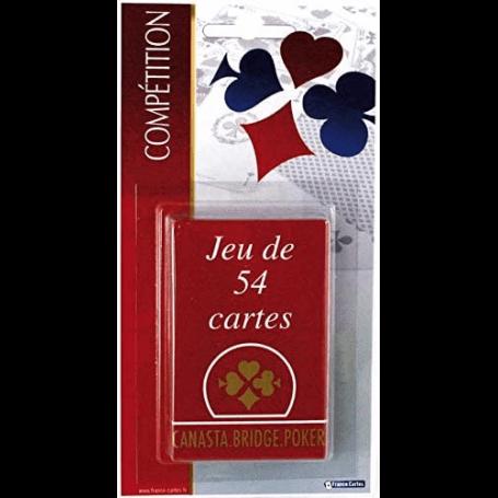 Jeu de 54 cartes traditionnel - Etui en carton