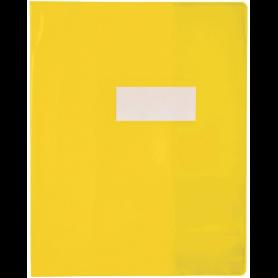 PROTÈGE-CAHIER RIPLAST GREEN LINE PVC OPAQUE 18/100E INCLUS PORTE-ÉTIQUETTE 240X320MM COLORIS JAUNE