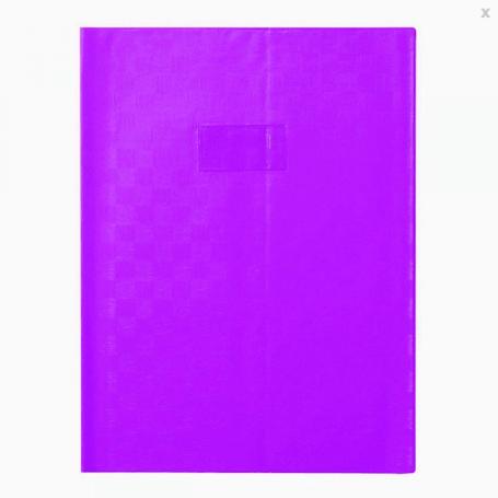 Calligraphe Protège cahier 24X32 madras violet à rabats