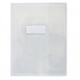 Protège-cahier en PVC transparent 12/100 format 24x32 cm incolore.