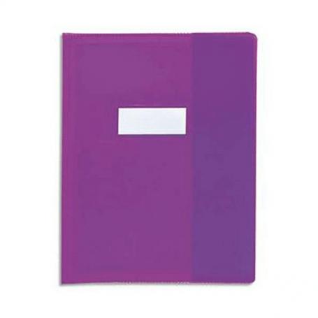 Calligraphe Un protège-cahier grain cuir 21x29,7 cm en PVC (plastique) opaque, Violet