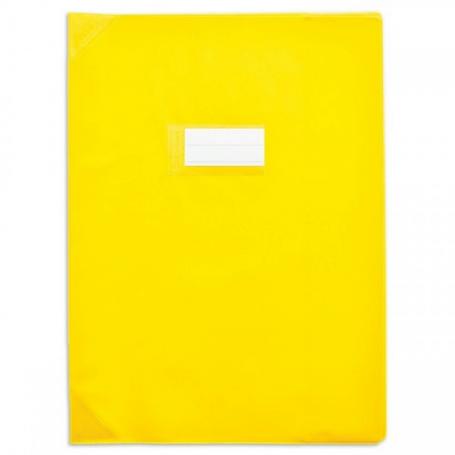 Calligraphe protège-cahier grain cuir 21x29,7 cm PVC opaque, Jaune