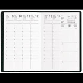 Agenda Semainier PLUTON Noir - Format : 9 x 12,5 cm - Janvier à décembre 2021