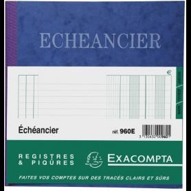 Exacompta Piqûre 21x19cm échéancier tracé journal 80 pages