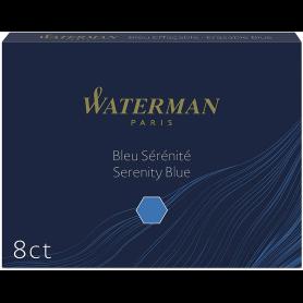WATERMAN Cartouches d'encre longues, bleu sérénité