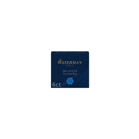 WATERMAN Cartouches d'encre standard mini, bleu sérénité