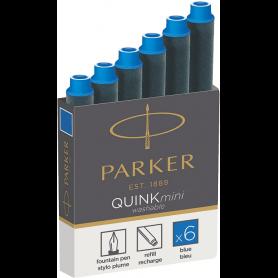 PARKER Cartouches d'encre Mini QUINK, effaçable, bleu