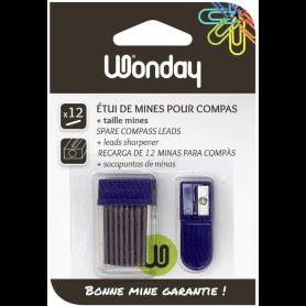 Wonday 12 Mines pour compas Recharges mines 2 mm