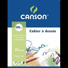 CANSON Cahier à dessin, uni, 120 g/m2, 170 x 220 mm