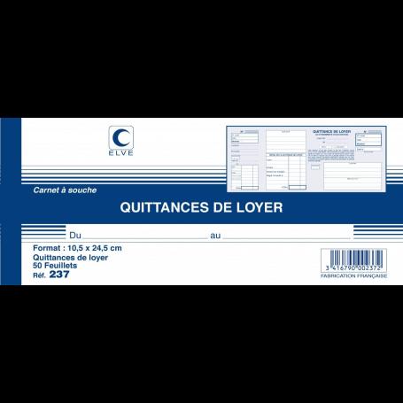 Elve pour quittances de loyer - 105 x 245 mm - 50 pages