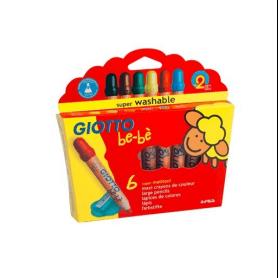 Giotto BB Etui de 6 crayons de couleur
