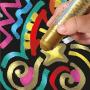 Sticks de peinture gouache solide 10g - METALLIC ONE - 6 couleurs assorties