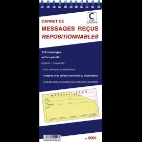 ELVE Carnet de messages reçus, 120 messages repositionnables