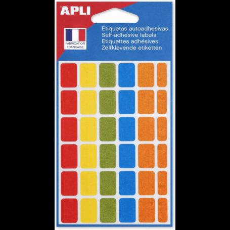 agipa Etiquettes de couleur, 12 x 18 mm, assorti