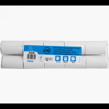 Lot de 10 bobines thermiques pour TPE - 57x40x12 - 40339E - Exacompta