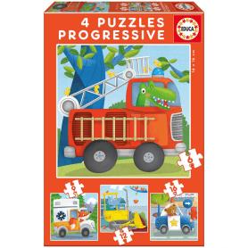 Puzzle progressif animaux sauvages 6 pièces