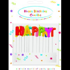 Ensemble de 13 bougies joyeux anniversaire