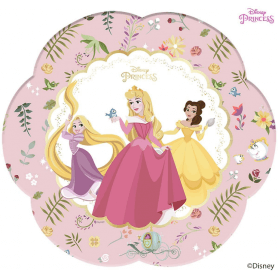 4 Assiettes premium en carton Princesses Disney