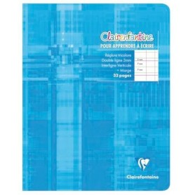 Clairefontaine Cahier 17x22 apprentissage 3mm + marge