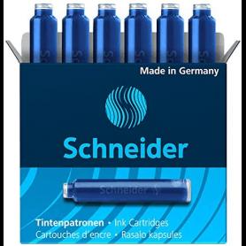 SCHNEIDER stylos cartouches standard bleues