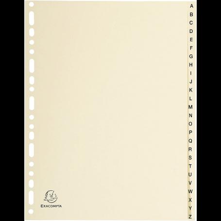 EXACOMPTA Intercalaires carte A-Z, A4,26 touches