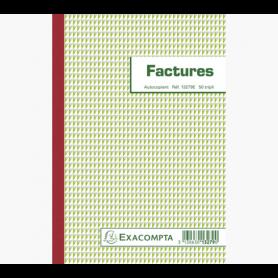Exacompta manifold Factures 21x14,8cm 50 feuillets tripli autocopiants