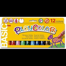 Playcolor One - Boite 12 sticks de Gouache solide