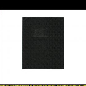 Elba Lot de 20 Protège-cahiers Grain Losange 18/100ème 17x22 Noir