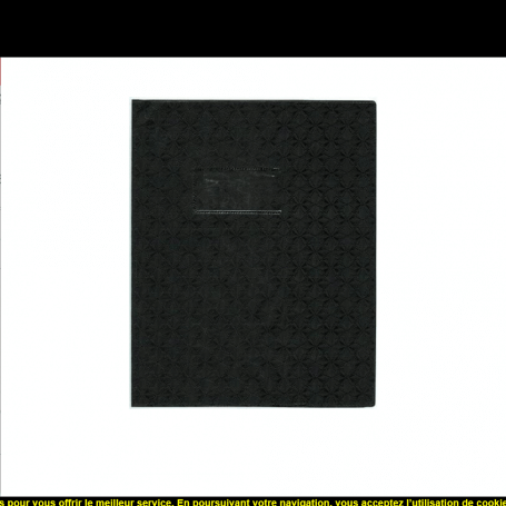 Elba Lot de 5 Protège-cahiers Grain Losange 18/100ème 17x22 Noir