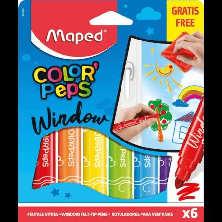 Maped Feutre Window COLOR'PEPS, assorti, étui de 6 en carton