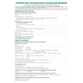 EXACOMPTA Feuille 'Contrat de location pour locaux non meublés